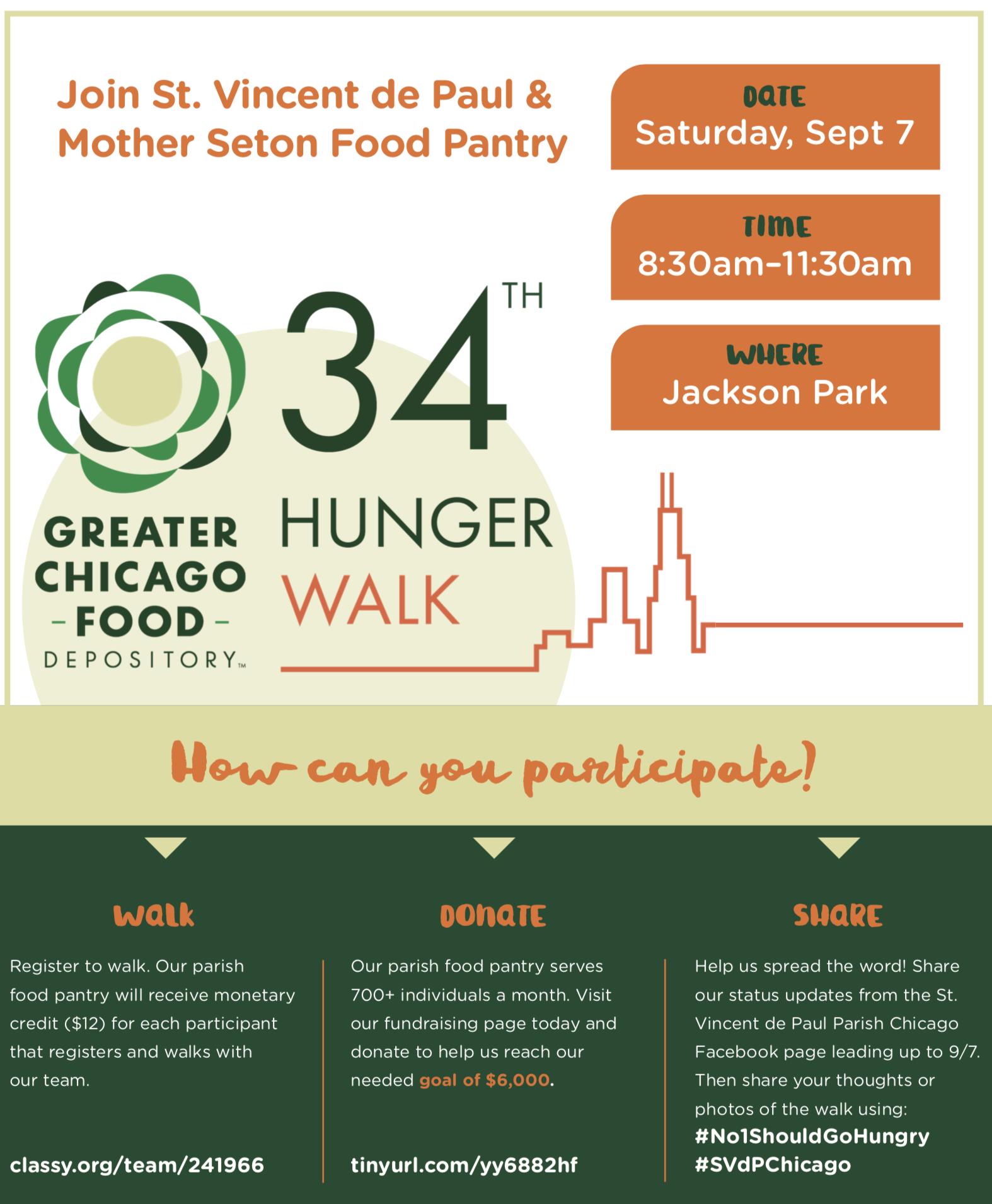 34th Hunger Walk - St  Vincent de Paul Parish